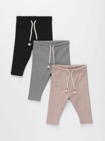 מארז 3 מכנסי פוטר עם שרוך / 0-8Y של TERMINAL X KIDS