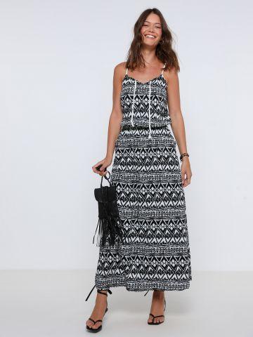 שמלת מקסי בהדפס צורות של YANGA