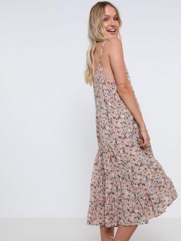 שמלת מידי קומות בהדפס פרחים של YANGA