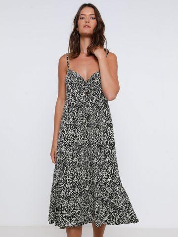 שמלת מידי בהדפס חברבורות של YANGA