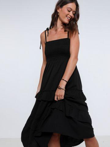 שמלת מידי קומות עם כיווצים של YANGA