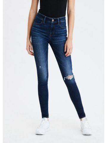 ג'ינס סקיני בשטיפה כהה Hi Rise Jegging של AMERICAN EAGLE
