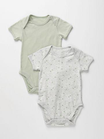 מארז 2 בגדי גוף בהדפס עלים / 6-12M של UNIQLO
