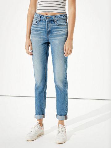 ג'ינס קרופ עם קיפול בסיומת של AMERICAN EAGLE