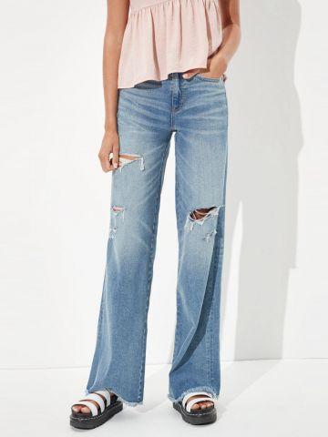 ג'ינס ארוך בגזרה מתרחבת של AMERICAN EAGLE