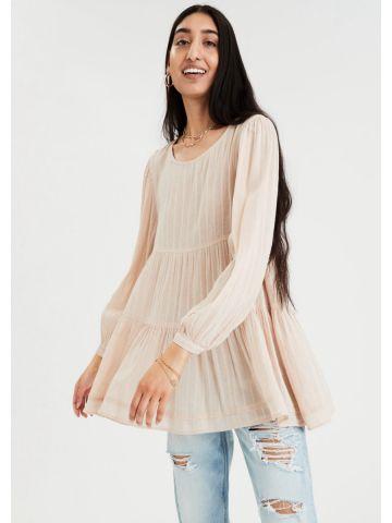 חולצת בייבידול בטקסטורת פסים / נשים של AMERICAN EAGLE