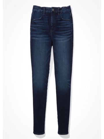 ג'ינס סקיני Curvy בשטיפה כהה Super Hi-Rise Jegging / נשים של AMERICAN EAGLE