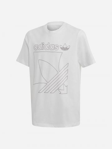 טי שירט לוגו קווי מתאר / בנים של ADIDAS Originals