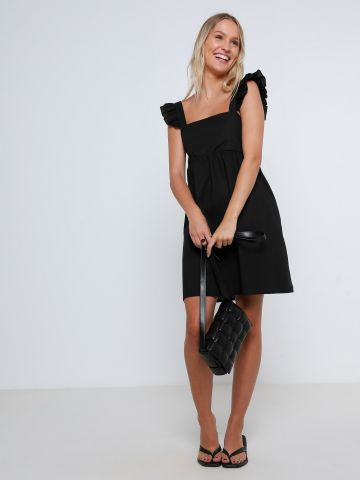 שמלת מיני עם כתפיות מלמלה של YANGA
