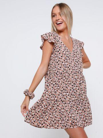 שמלת מיני קומות בהדפס פרחים של YANGA