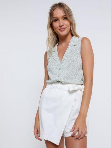 מכנסי חצאית עם חגורת קשירה של YANGA