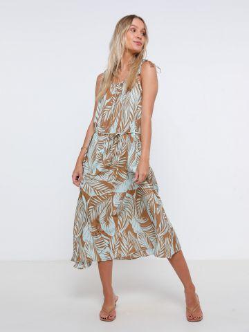 שמלת מידי בהדפס עלים של YANGA