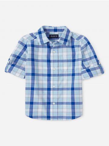 חולצה מכופתרת בהדפס משבצות / בנים של THE CHILDREN'S PLACE