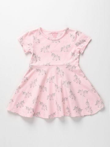 שמלה מתרחבת בהדפס חד קרן / 6M-5Y של THE CHILDREN'S PLACE