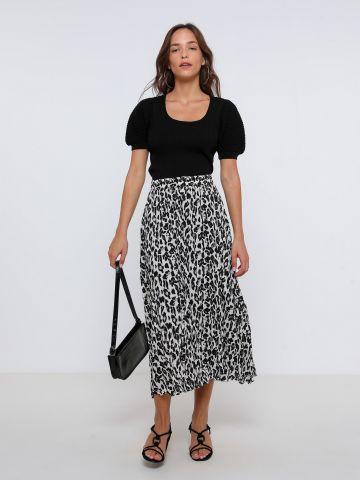 חצאית מידי בהדפס חברבורות של YANGA