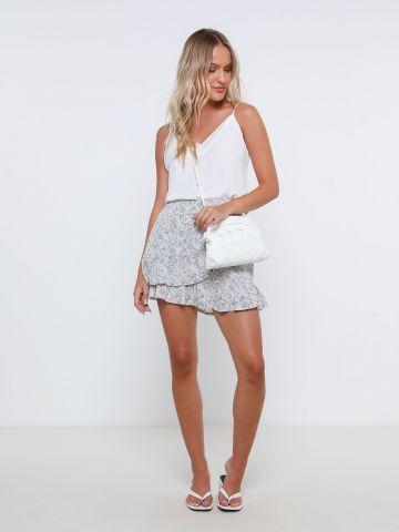 מכנסי חצאית מיני בהדפס פרחים של YANGA