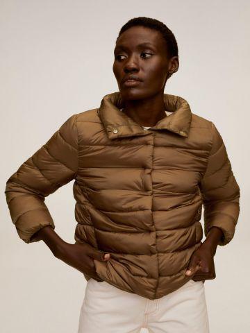 מעיל קווילט עם צווארון גבוה של MANGO