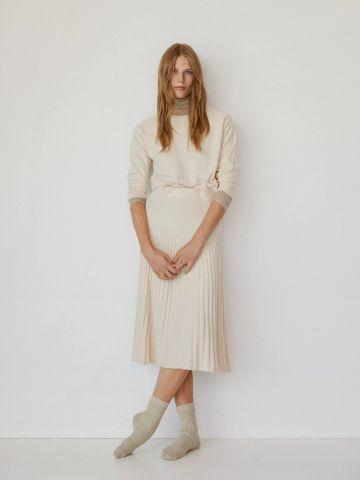 חצאית מידי פליסה של MANGO