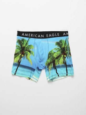 תחתוני בוקסר בהדפס טרופי / גברים של AMERICAN EAGLE
