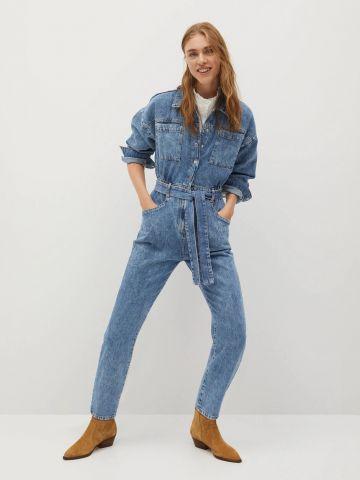 אוברול ג'ינס ארוך של MANGO