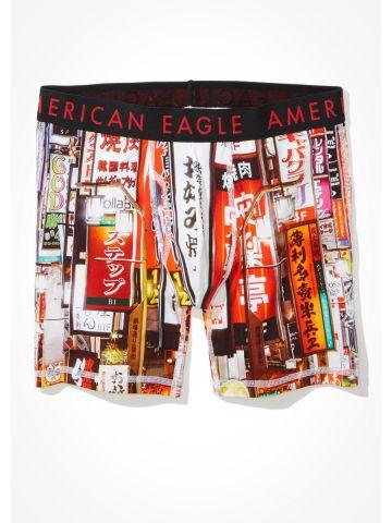 תחתוני בוקסר בהדפס טוקיו של AMERICAN EAGLE