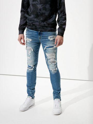 ג'ינס סקיני ארוך עם קרעים של AMERICAN EAGLE