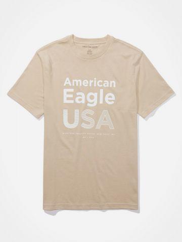 טי שירט עם לוגו / גברים של AMERICAN EAGLE