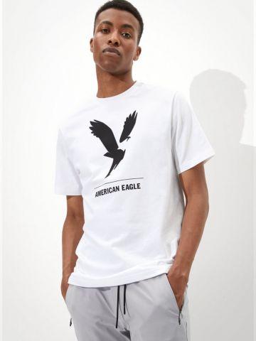 טי שירט עם לוגו של AMERICAN EAGLE
