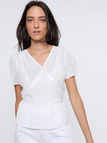 חולצת מעטפת עם שרוך קשירה של YANGA