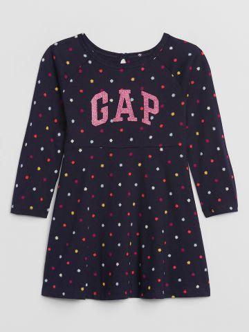 שמלת פפלום בהדפס כוכבים עם לוגו / 12M-5Y של GAP