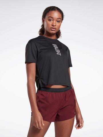 חולצת ריצה עם הדפס לוגו של REEBOK