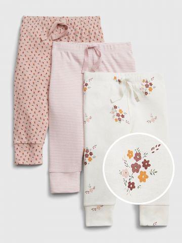 מארז 3 מכנסיים בצבעים שונים / 0-24M של GAP