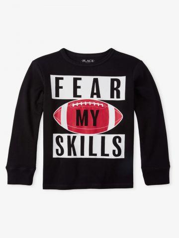 סריג עם הדפס Fear my skills / בנים של THE CHILDREN'S PLACE