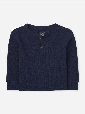 חולצת וופל עם כפתורים / 9M-5Y של THE CHILDREN'S PLACE