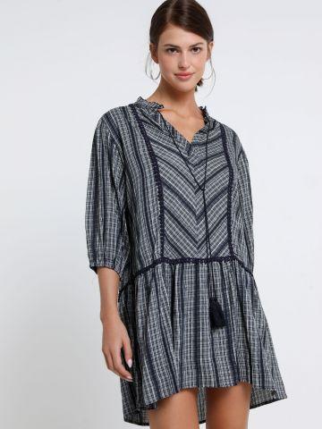 שמלת מיני פסים עם גדילים של YANGA