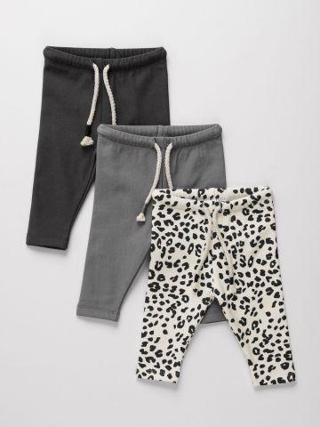 מארז 3 מכנסי פוטר בהדפסים שונים / 0-6Y של TERMINAL X KIDS