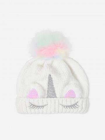 כובע שניל עם פונפון / בנות של THE CHILDREN'S PLACE