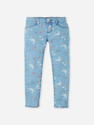 ג'ינס סקיני בהדפס פרפרים / בנות של THE CHILDREN'S PLACE