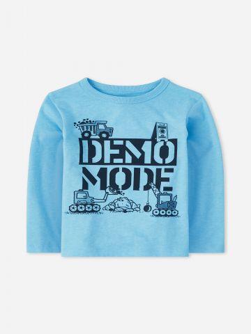 טי שירט Demo Mode שרוולים ארוכים / 9M-4Y של THE CHILDREN'S PLACE