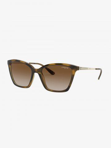 משקפי שמש עיני חתול בסגנון מנומר / נשים של vogue eyewear