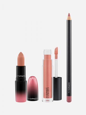 שלישיית מוצרי שפתיים בגווני ניוד של MAC