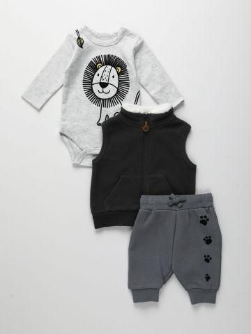 סט בגד גוף, מכנסיים ואפודה / 0M-24 של FOX
