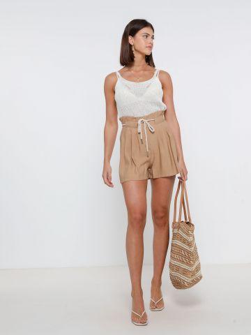מכנסי פייפרבאג עם חגורת קשירה של YANGA
