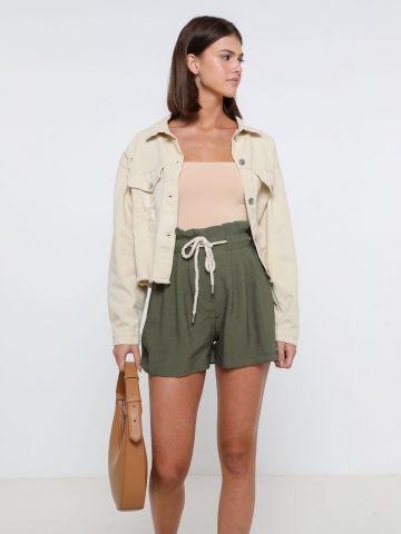 מכנסי פייפרבאג עם חגורה קשירה של YANGA