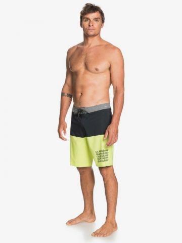 מכנסי גלישה קולור בלוק עם לוגו של QUIKSILVER