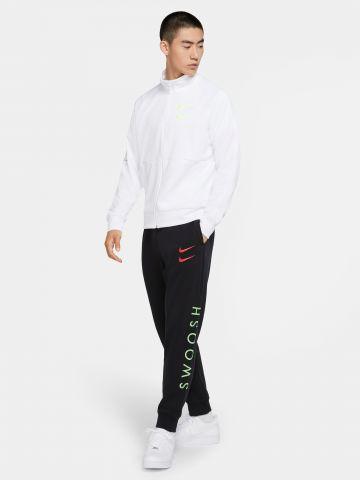 מכנסי טרנינג עם הדפס לוגו Swoosh של NIKE