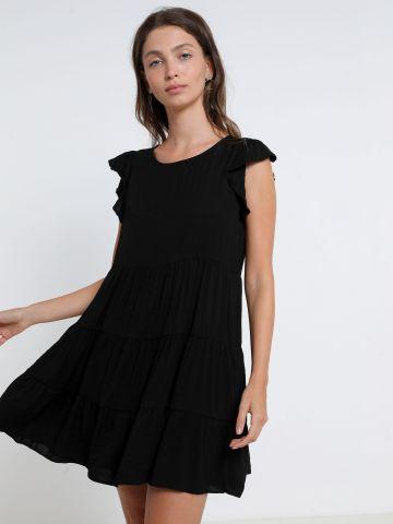 שמלת מיני קומות עם שרוולי מלמלה של TERMINAL X