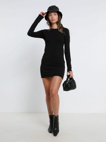 שמלת מיני עם שרוולים ארוכים של TERMINAL X