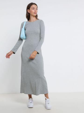 שמלת מקסי בטקסטורת ריב של TERMINAL X