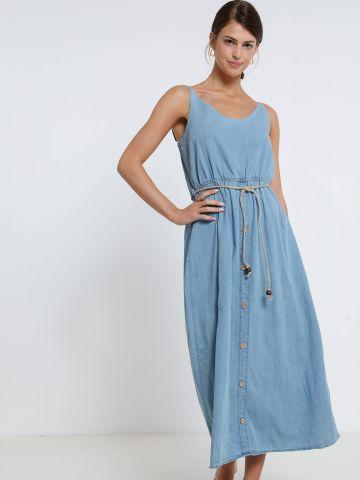 שמלת מקסי עם כפתורים של YANGA